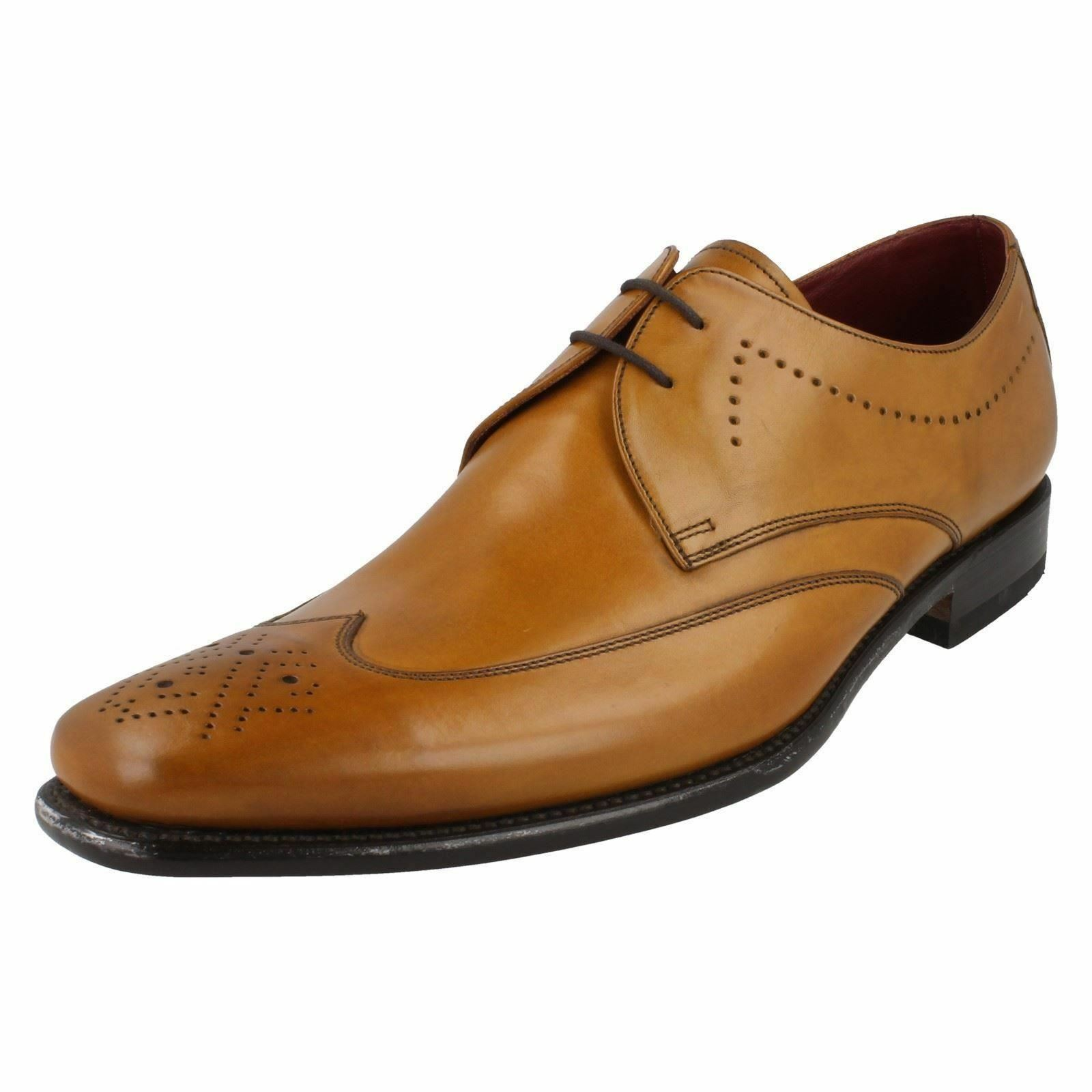 Loake Stitch Tan Gents Formal Smart Schuhes