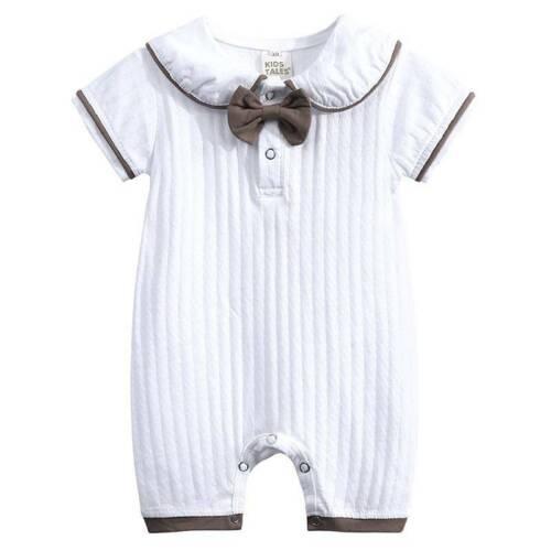 Kleinkind Baby Kinder Jungen Strampler Overall Sommer Romper Gentleman Kleidung