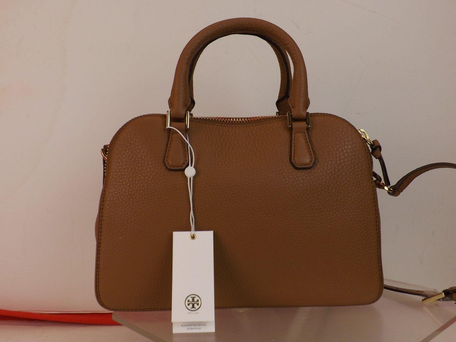 cd394e55f87 Tory Burch Robinson Tigers Eye Pebbled Leather Reva 2x Zip Satchel Shoulder  Bag for sale online
