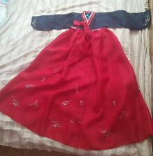 Traditional Costume Korean Hanbok Dress 170cm for Tall Women +free gift!
