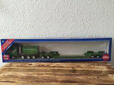 """Siku 3931 Schwertransport mit Tieflader """"Kuebler-Spedition"""", (OVP)"""