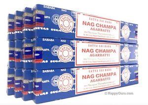 034-Nag-Champa-034-Satya-Sai-Baba-Incense-180gm-12x15gm-034-Free-Incense-Sample-034