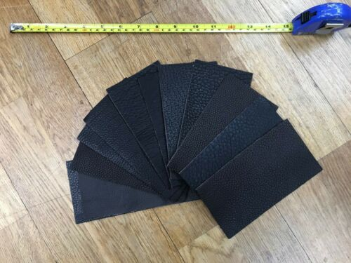 Real Leather Panels Blacks 15cm x 8cm Pack of 12