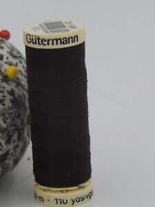 GUTERMANN-Sew-All-Thread-100-Polyester-100m-DARK-BROWN-696