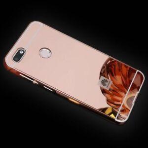 MIROIR-Miroir-Pare-chocs-en-aluminium-2-pieces-rose-pour-Huawei-Y6-2018