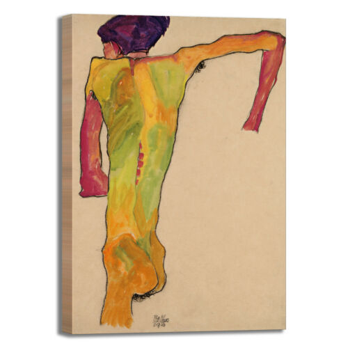 Schiele nude male supported framework Print Canvas Painting Frame Home Furnishings