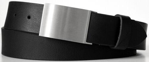 Ledergürtel Unisex in 3 Farben 4 cm breit Vollleder Herren /& Damen Gürtel