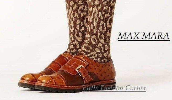 Nuovi 35; MAX MARA Marronee Leather  scarpe Dimensione 40 EU 905US _7.5 UK  molto popolare