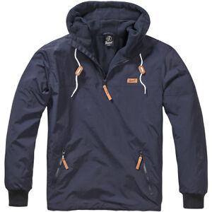 Brandit-Luke-Windbreaker-Warm-Soft-Shell-Hooded-Sailing-Windproof-Jacket-Navy