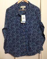 Cabelas Chamois Shirt Size Women's Xl Long Sleeve Button Up Floral Flannel