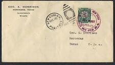SOUTH AFRICA 1937 DURBAN AMERICAN SOUTH AFRICAN LINE PAQUEBOT NY TO TEXAS STUD