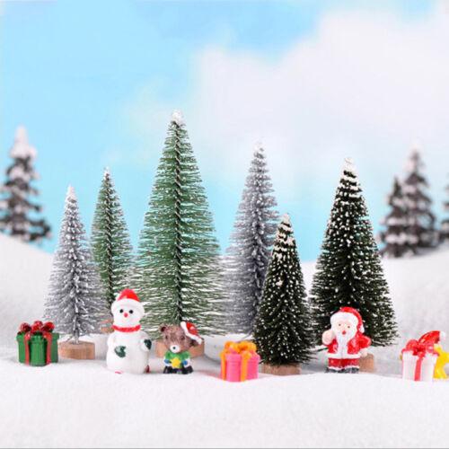 3Pcs//Set Pine Needle Christmas Tree Craft Fairy Garden Miniature Terrarium DG1ZN