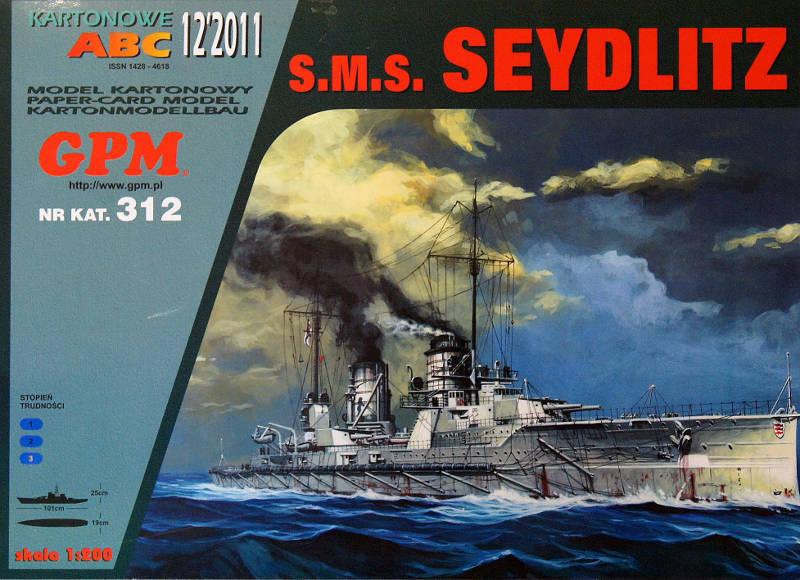 German Battlecruiser SMS Seydlitz paper model 1 200 big 101cm