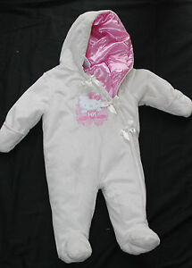 db45c3c70a7a Baby Girl Hello Kitty Hooded Pram Ivory Pink Size 3-6 months nwot ...