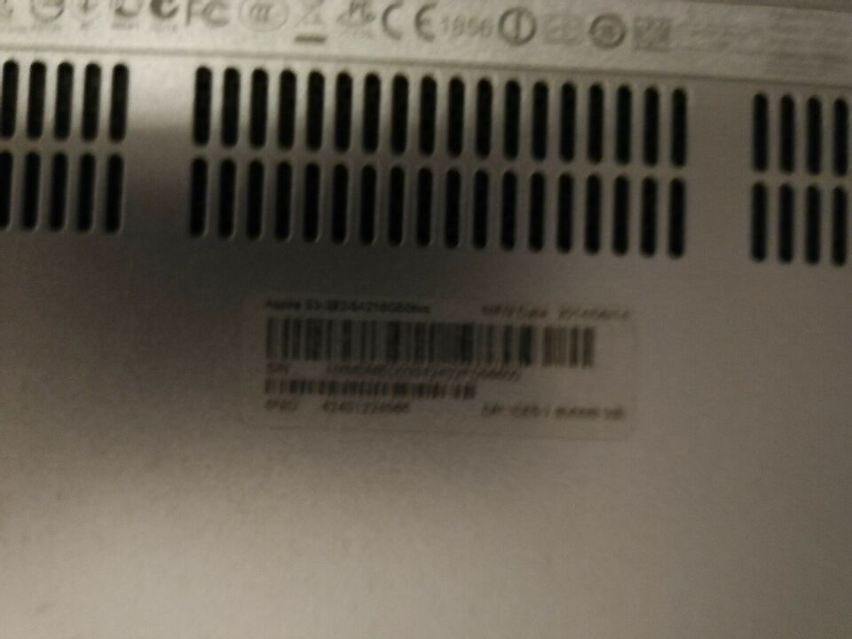Acer Aspire s 3 392, 4 GB ram, 0 GB harddisk
