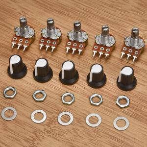 1 Set 1//2W Easy Install 10K OHM Linear Taper Rotary Potentiometer 10KB B10K Pot