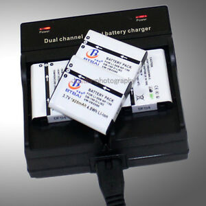 Dual-Charger-4x-Battery-for-PENTAX-D-Li92-Optio-WG1-WG2-WG3-WG10-OLYMPUS-LI-50B