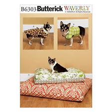 Butterick 6303 Patrón De Costura Para Hacer Cojines Chaquetas Y Mascota Perro-SM-XL