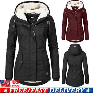 Women-039-s-Parka-Hooded-Hoodies-Parka-Winter-Thicken-Jacket-Warm-Coat-Outwear-US