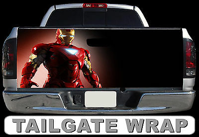 T224 IRON MAN Tailgate Wrap Decal Sticker Vinyl Graphic Bed Cover