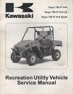 2010 kawasaki atv teryx 750 fi 4x4 recreational utility service rh ebay com 2010 kawasaki teryx 750 service manual 2008 Kawasaki Teryx 750