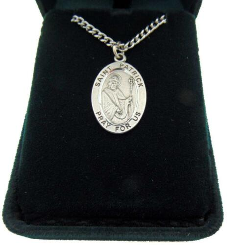 "St Patrick Deluxe Gift Set 1/"" Medal w// Velour Gift Box Patron Saint of Ireland"