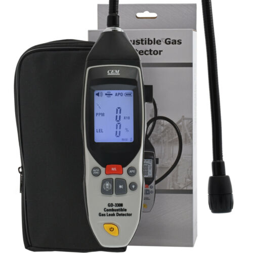 Combustible gas detector leak hydrogen propane methane Li-ion battery charger