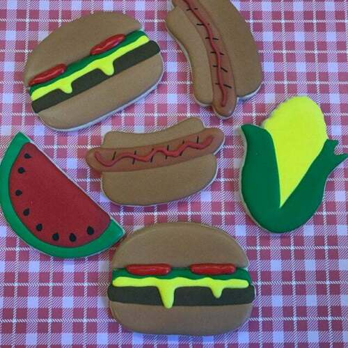 9 Piece BBQ Grill Cookie Cutter Set Party Reunion Summer Picnic