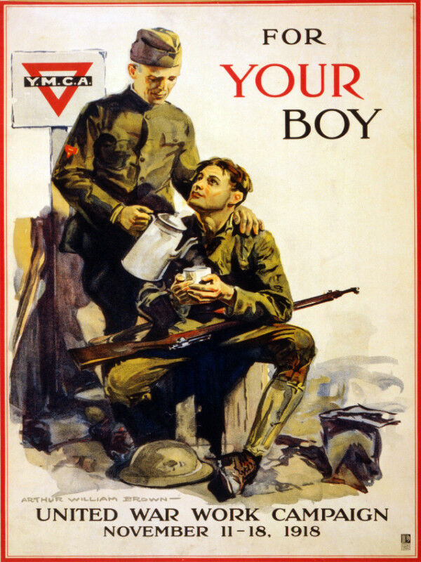 Vintage War POSTER.Home Interior Design.US Army Father and Son.Art Decor.818