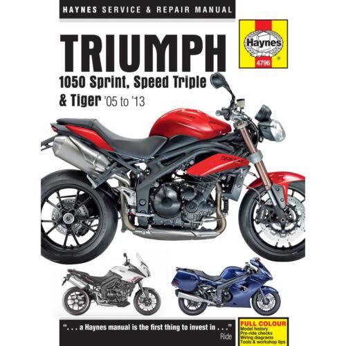 Triumph 1050 Sprint ST Speed Triple Tiger 2005-13 Haynes Workshop Manual