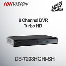 8 Channel DVR Turbo HD Surveillance Security CCTV Hikvision DS-7208HGHI-SH H.264