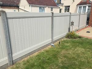 Pvc Fencing Panels Full Privacy For Use In Concrete