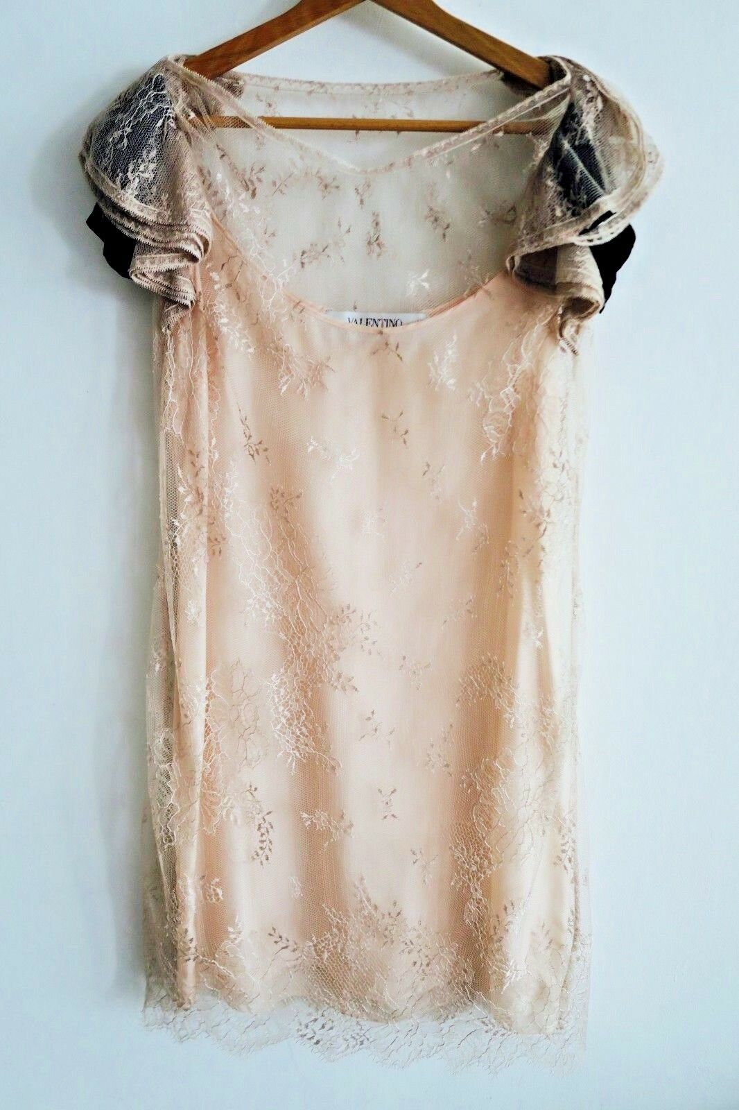 Valentino Roma Silk  Lace Dress