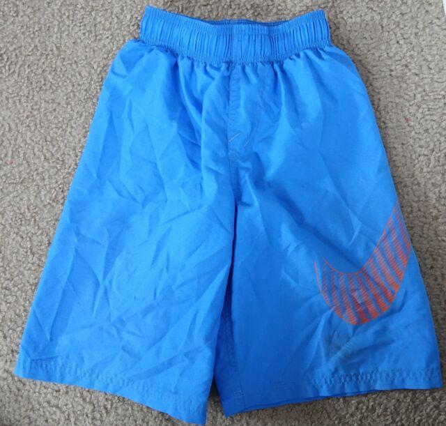 b3de0cfdcc5 Nike Boys' Flow Swoosh Volley blue swim Board Shorts, size S-FIXED TEAR