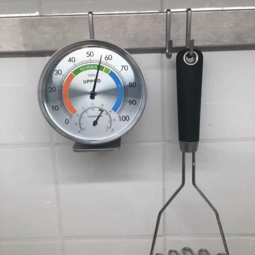 """Humidity Gauge Indicator Te LittleGood 5/"""" Indoor Outdoor Hygrometer//Thermometer"""