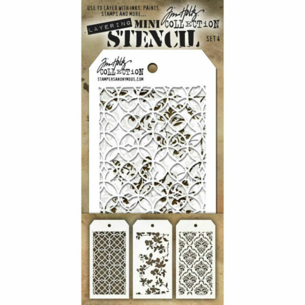 Multicolor Stampers Anonymous Tim Holtz Mini Layered Stencil Set
