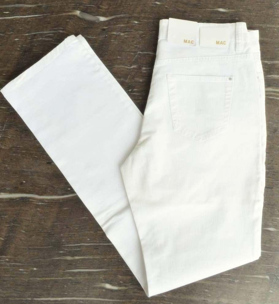 MAC Jeans ANGELA weiß  Stretch Weiß Denim Gr.44  L34 slim fit  NEU