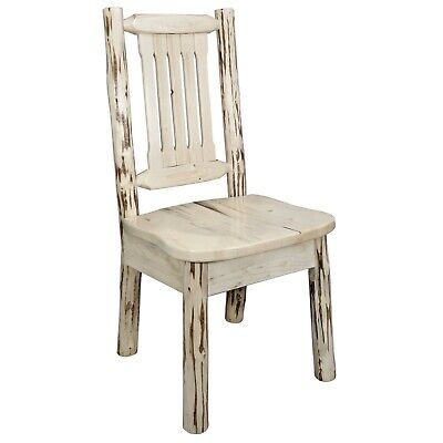 Log Kitchen Chair Amish Made Chairs Rustic Dining Furniture Lodge Cabin  Style | eBay