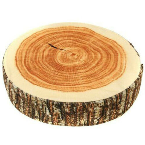 Sofa Seat Pad Tree Stump Cushion Rest Natural Neck Support 3D Wood Log Pillow