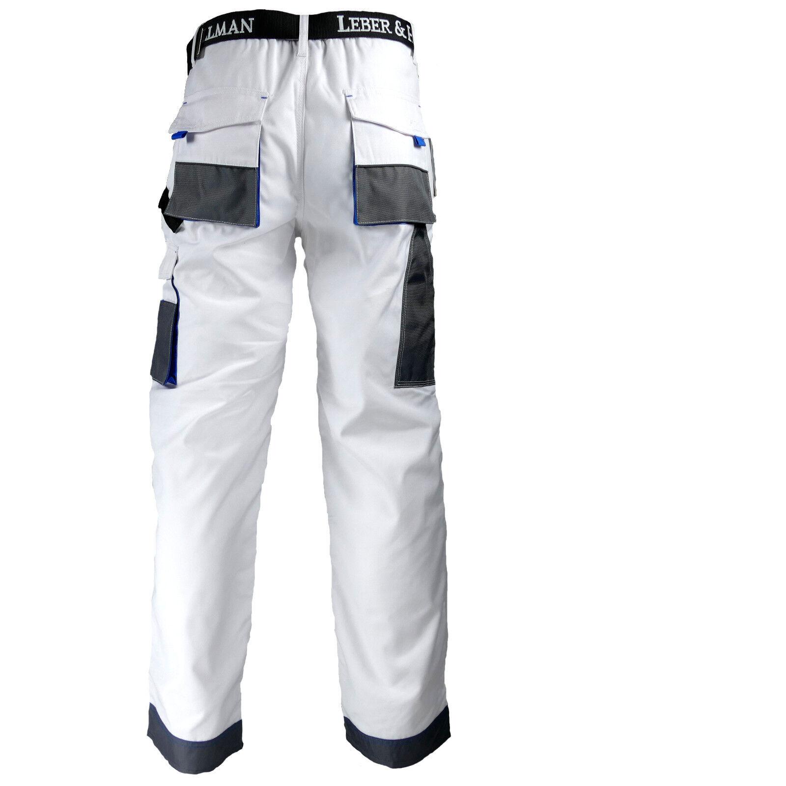 so billig gute Qualität Kundschaft zuerst Arbeitshose Malerhose Bundhose Arbeitskleidung 11 Taschen LH Weiß Blau Gr.  46-62
