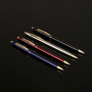 Lusso-Metallo-Penna-a-Sfera-1mm-Inchiostro-Nero-Gel-Ufficio-Scrittura-Cartoleria
