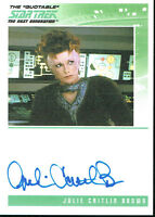 THE QUOTABLE STAR TREK THE NEXT GENERATION AUTOGRAPH CARD JULIE CAITLIN BROWN