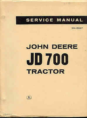 Media 2019 Latest Design John Deere Jd700 Service Manual Original A Plastic Case Is Compartmentalized For Safe Storage Farming & Agriculture
