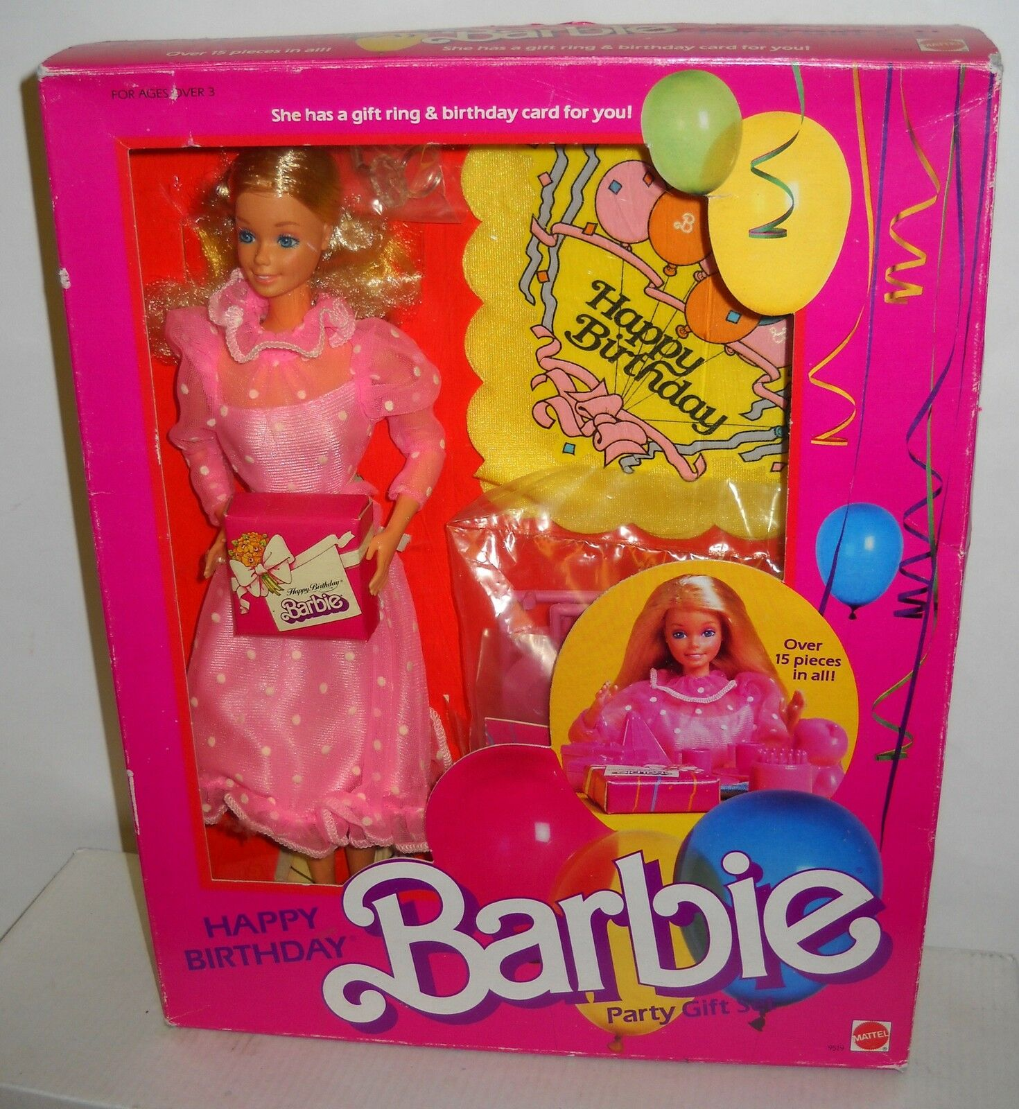 Nunca quitado de la Caja Mattel Vintage almacenes Feliz Cumpleaños Fiesta Barbie Set