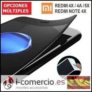 Protector-Cristal-Templado-ELASTICO-3D-CURVO-Xiaomi-Redmi-Note-4-4X-4A-Mi-5X-A1