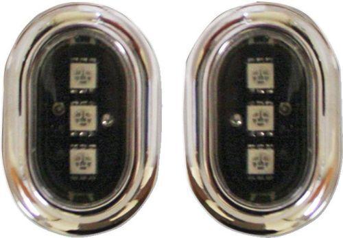 Custom Dynamics Plugz smoked LED Rear antenna hole lights 07-17 Harley FLTR FLHX