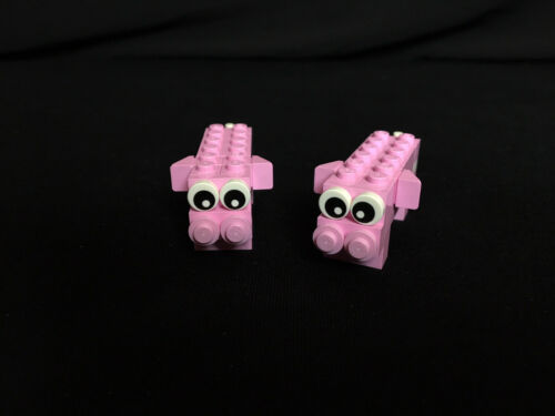 ANIMALS ferme City Ville Town autoconstruction NEUF pig animaux animal Lego 2x porcs