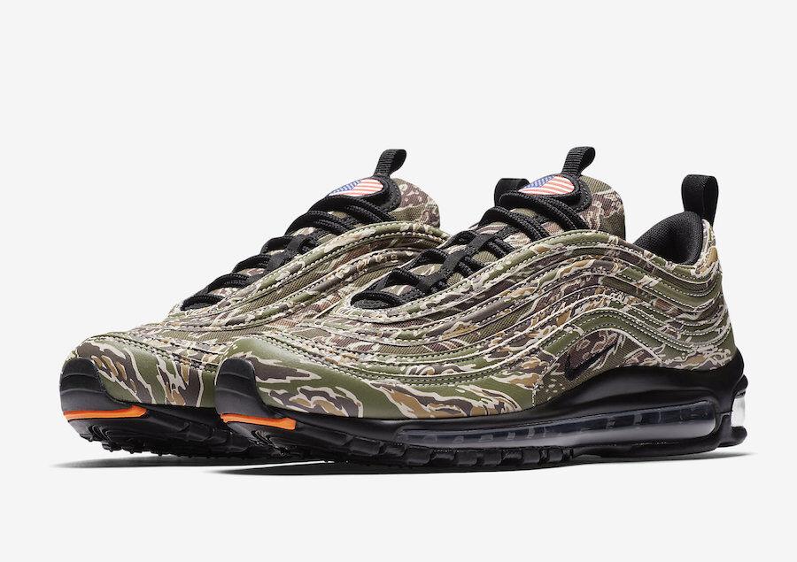 Nike Air Max 97 PRM Country Camo USA Olive/Black/Sand AJ2614-205 airmax
