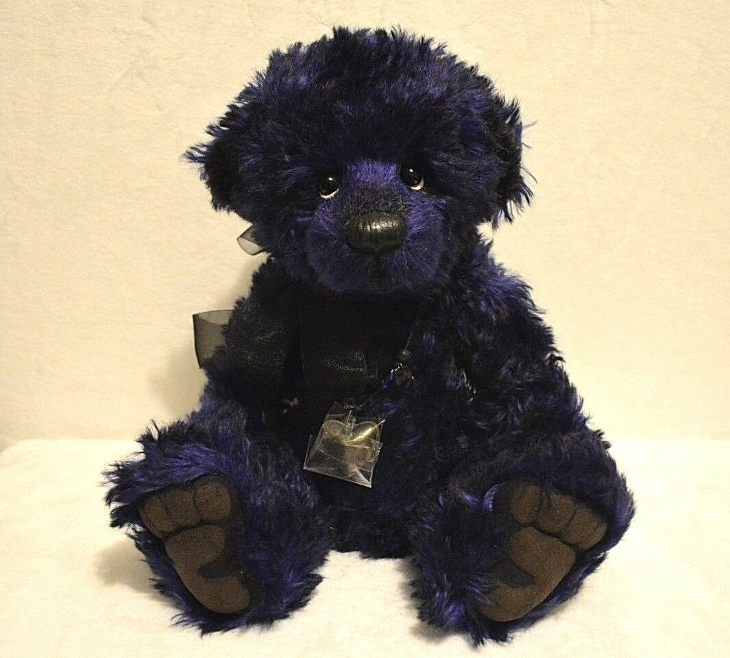 Charlie Bear Mohair Sapphire 16.5  Isabelle Collection