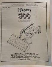 Koyker 500 Operators Manual 655125